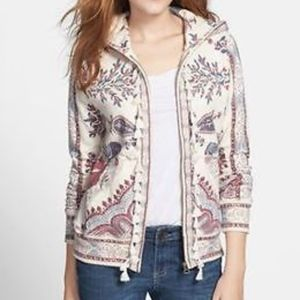 LUCKY LOTUS LUCKY BRAND Paisley Hoodie -NO Tassels